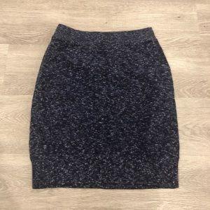 Rag & Bone Knit Navy Heathered Mini Skirt Size S